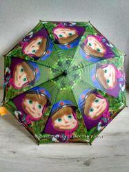 Зонтики для девочек от 5 до 9 лет Принцесса София Рапунцель, Маша и медведь