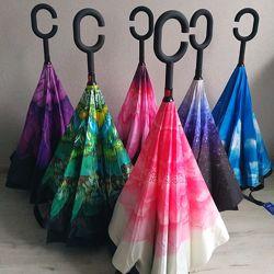 Зонты Smart Exclusive. Ультрамодный зонт обратного сложения. Реальные фото