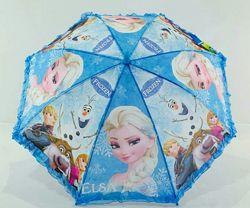 Зонтик для девочки Frozen Ледяное сердце Эльза Анна Олаф от 5 до 9 лет