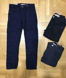 Котоновые брюки на флисе для мальчика 116-146. Зима Венгрия.