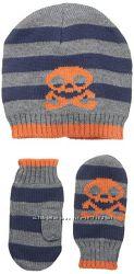 Комплект шапка  рукавицы США , демисезон, размер на 2-4 года.