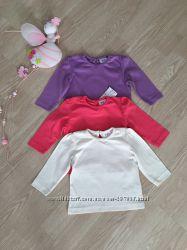 Классные свитера, кофточки и футболки C&A, F&F на 3-6-9 мес