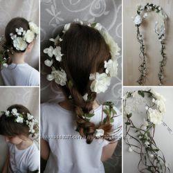 Веночек цветов на выпусной, свадьбу, ручная работа Киев