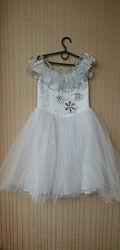 Прокат платье Снегурочка, снежинка, снежная королева на 5-8 лет,  ко
