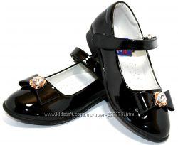 Детские школьные нарядные туфли для девочки Apawwa с 32 по 37