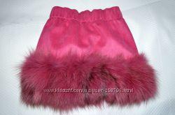 Роскошная юбка с натуральным песцом
