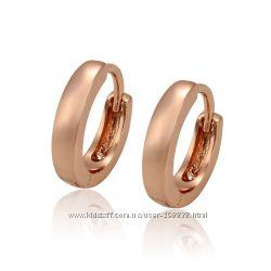 Сережки GF 18К Розовое золото.
