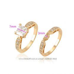 Шикарное двойное кольцо GF 18К