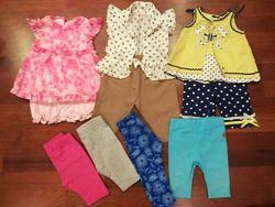 Летняя одежда малышке на рост 62-74см