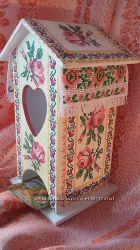 Чайный домикУкраїнська хатиночка- для зберігання чаю, оберіг, ручна робота