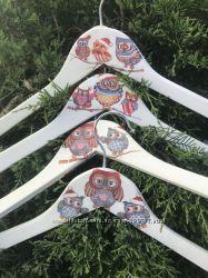 Набор плечиков ручной работы для ваших деток - Совиное семейство