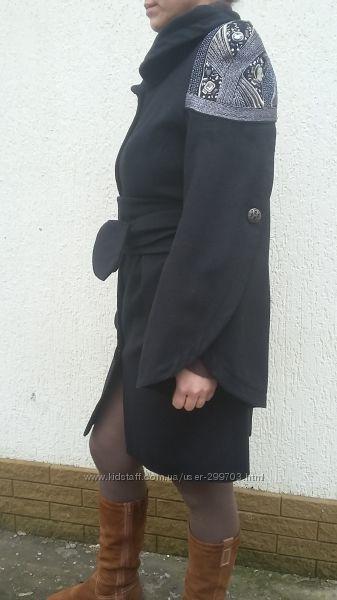 Модельное пальто Раслов Raslov, чёрное, 48