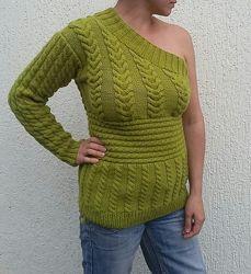 Пуловер с одним рукавом, ручная работа