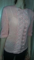Пуловер с рукавами 34, ручная работа