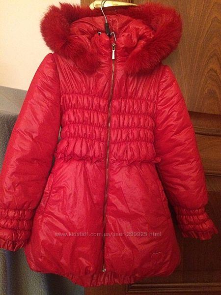 Зимнее пальто  Blumarine BabyОригинал,5 лет110-116см