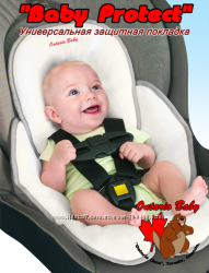 Защитная подкладка  в автокресло, коляску Baby Protect фланель