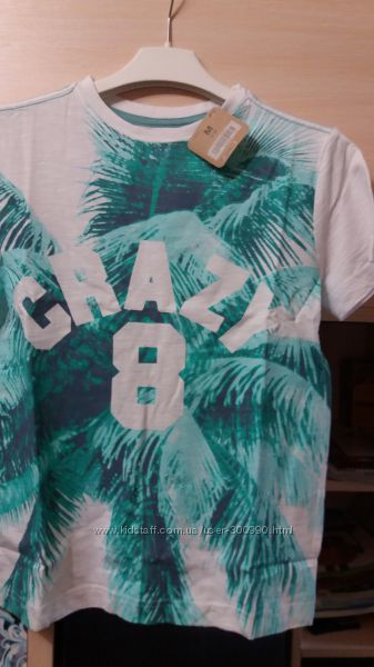 Футболка Crazy 8, Крейзи 8  белая,  размер М 7-8 лет