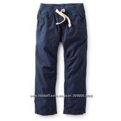 Брюки  летние детские на мальчика синие, сартерс, размер 2т