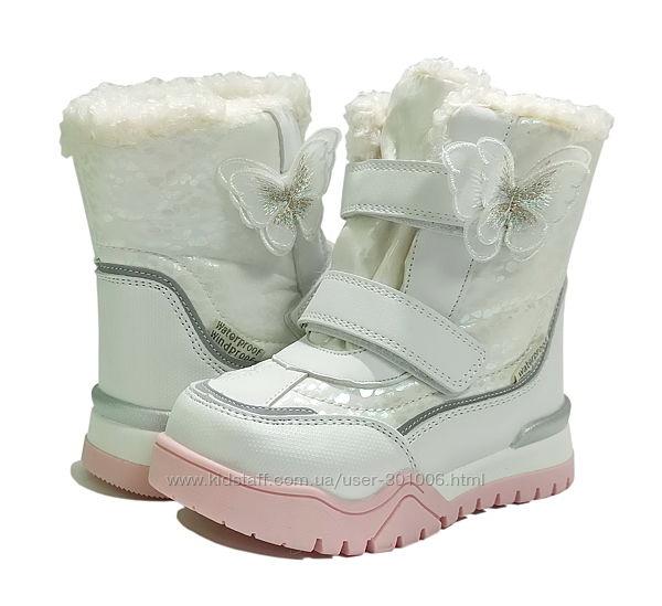 Зимние термо ботинки дутики сноубутсы черевики девочки овчине 7675 ТОМ М