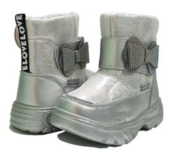 Зимние термо ботинки дутики сноубутсы черевики девочки овчине 7710 ТОМ М
