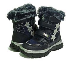 Дутики сапоги ботинки чоботи на овчине модель Н-232  Клиби Clibee девочки