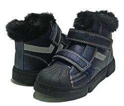 Зимние дутики сапоги ботинки чоботи на овчине Н215  Клиби Clibee мальчика
