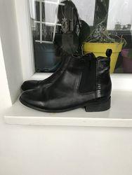 Женские кожаные ботинки челси next 38-39 размер