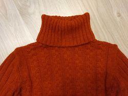 Женский теплый джемпер свитер с горловиной р. 46 - 48 см. замеры
