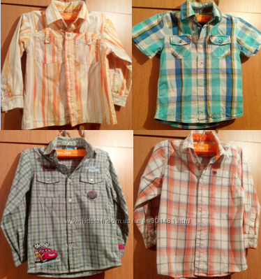 Яркие фирменные рубашки на рост 110-116