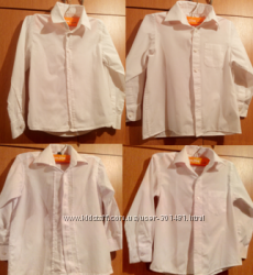 Белые рубашки M&S, Rebel, Турция 6-8 лет