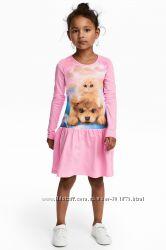 Лёгкое хлопковое платьице H&M р. 1, 5 - 2 года
