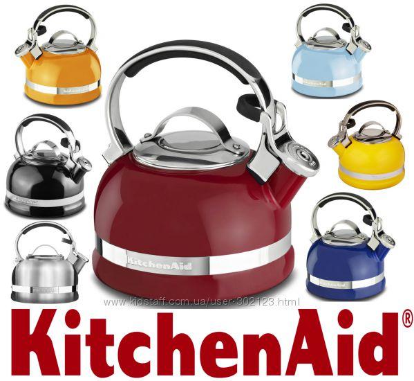 Чайник с свистком Наплитный KitchenAid KTEN20S 1, 9литра Оригинал Цвета раз