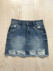 Классная джинсовая юбка tezenis недорого