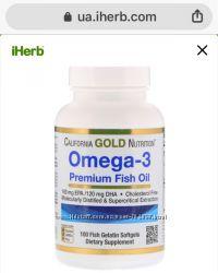 California Gold Nutriti 100 капсул Рыбий жир в наличии