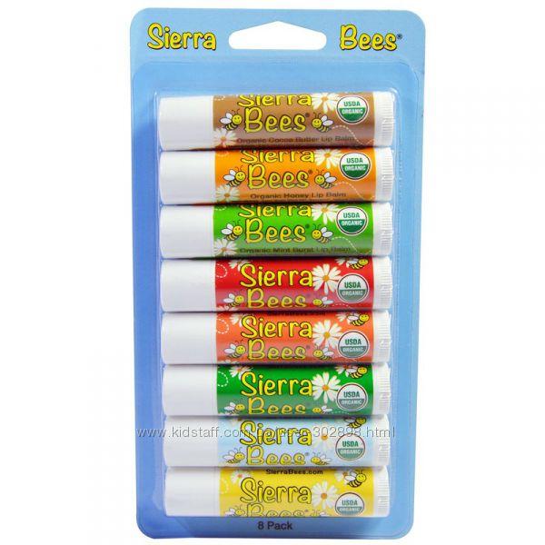бальзамы для губ Sierra Bees  25грн органические