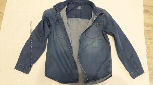 Джинсовая рубашка Primark на мальчика, 128 см