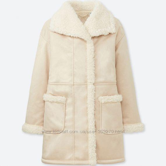 Флисовое пальто уникло uniqlo размер 5-6
