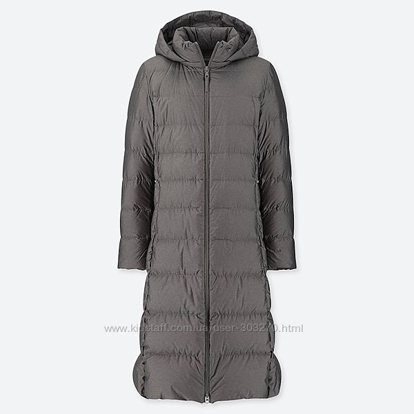 Пальто уникло WOMEN ULTRA LIGHT DOWN LONG COAT размер С