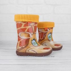 Новинка жираф. Детские резиновые сапожки Демар по лучшим ценам