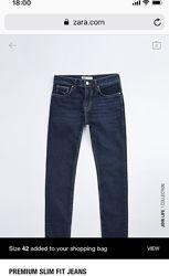 Чоловічі джинси, оригінал з італійського сайту Zara