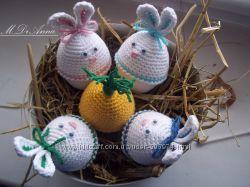 Пасхальные шапочки - украшения для яиц.