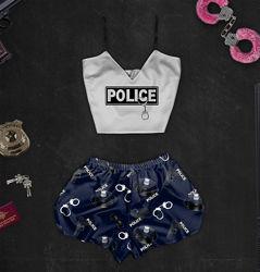 Пижама с принтом Police в наличии