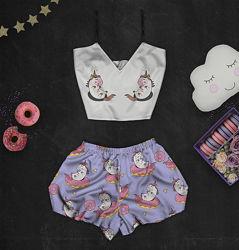 Пижама с принтом Единорожка в наличии