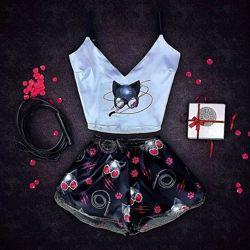 Пижама с принтом Женщина-кошка в наличии