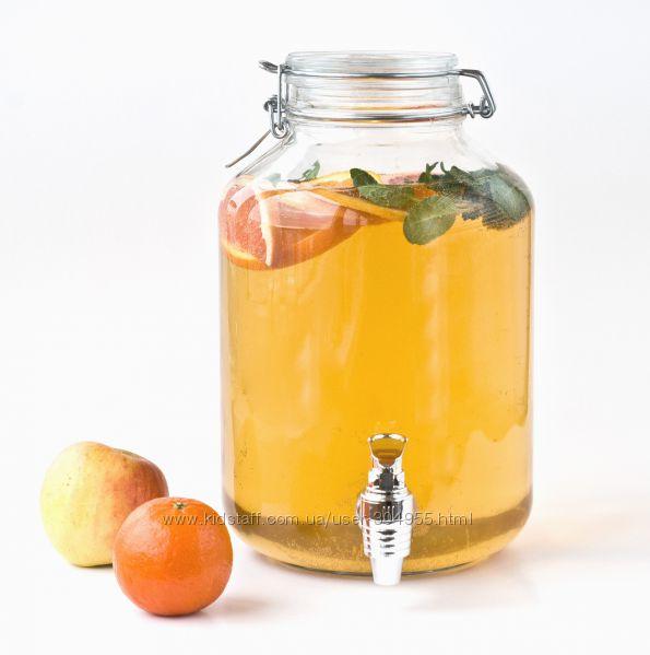 Лимонадник Bormioli 5л, емкость для напитков с краном