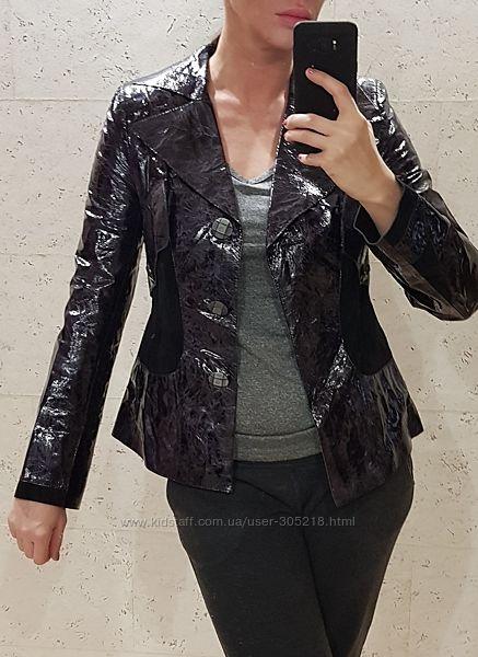 Кожаная лакированная куртка М. р