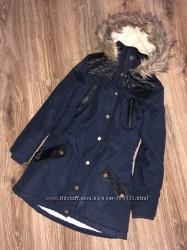 Фирменные удлиненные куртки деми, еврозима 5-7л