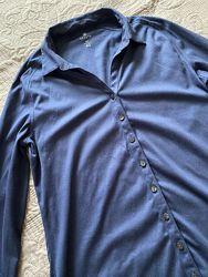 Синяя рубашка хлопок