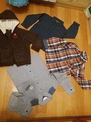 Рубашки, кофта на возраст 4-6 лет