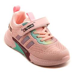 Яркие легкие детские кроссовки для девочки, разм. 32-37
